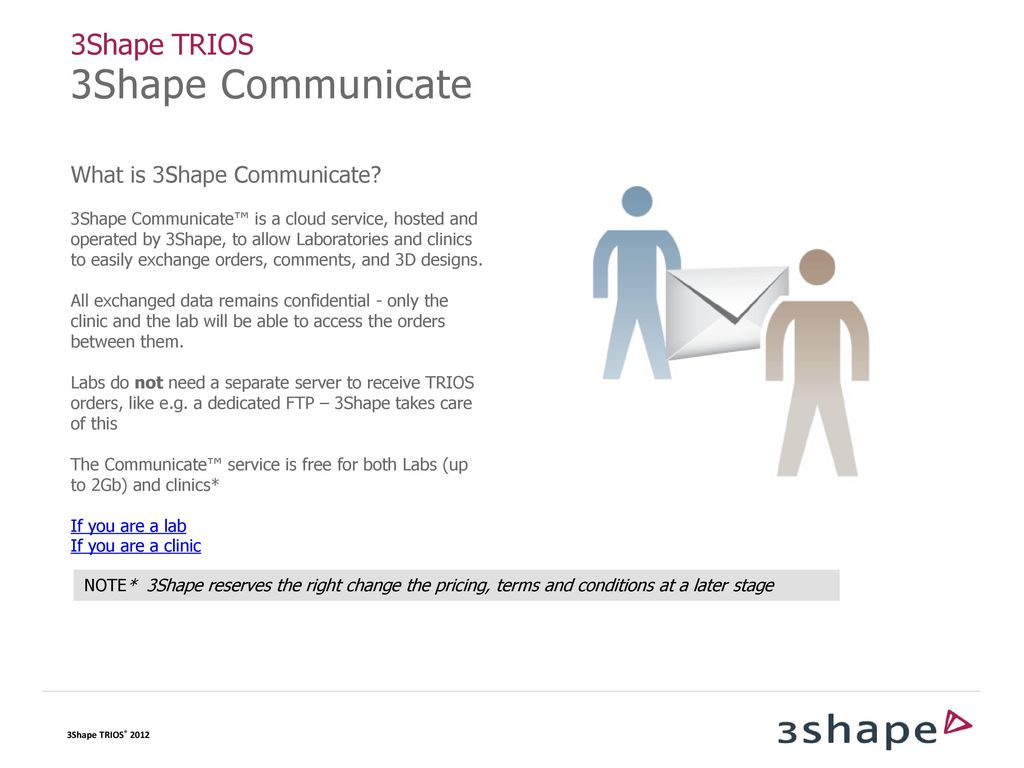 CLINIC-LAB COMMUNICATION Configuring 3Shape Communicate
