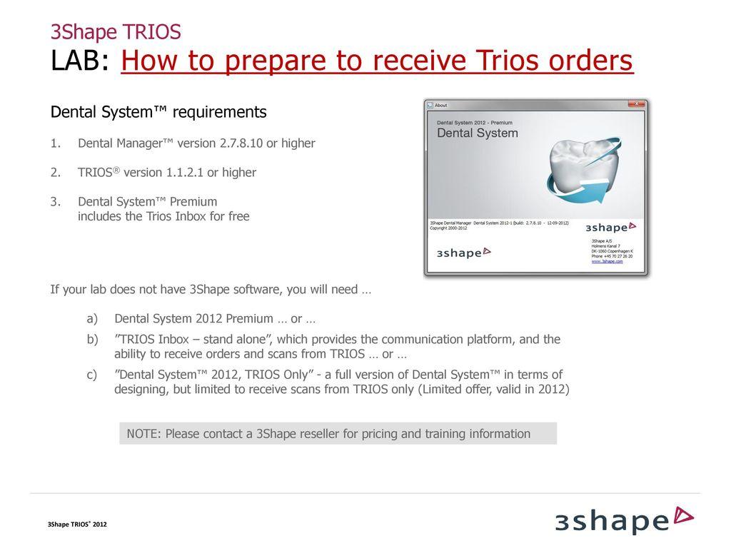CLINIC-LAB COMMUNICATION Configuring 3Shape Communicate