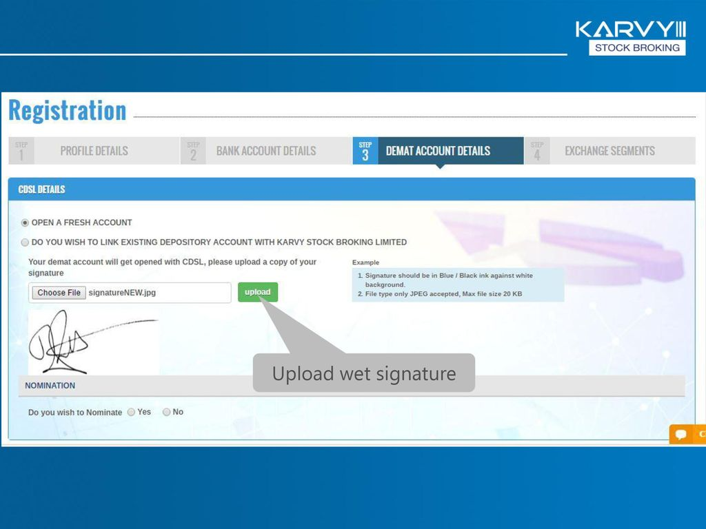 E-KYC Presentation By: Karvy Stock Broking Ltd  - ppt video
