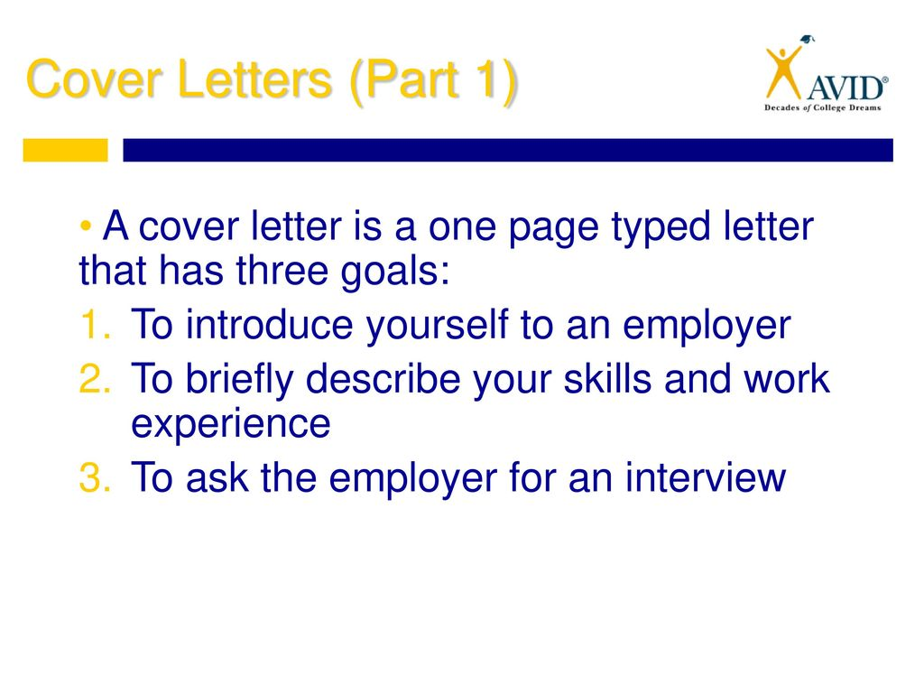 8 Cover Letters ...