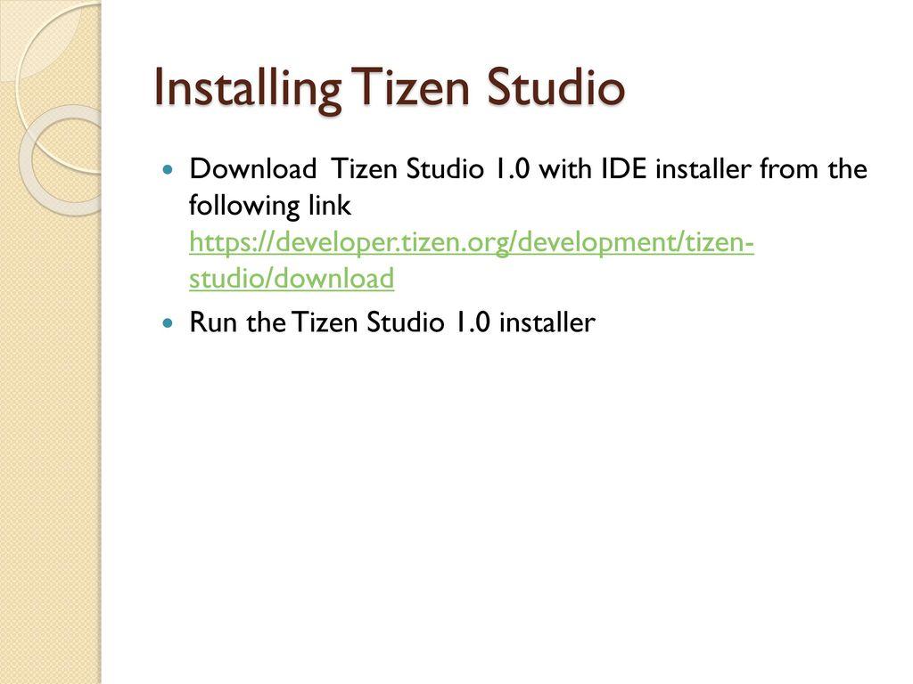 TIZEN STUDIO INSTALLATION & ENVIRONMENT SETUP FOR DEVLAB