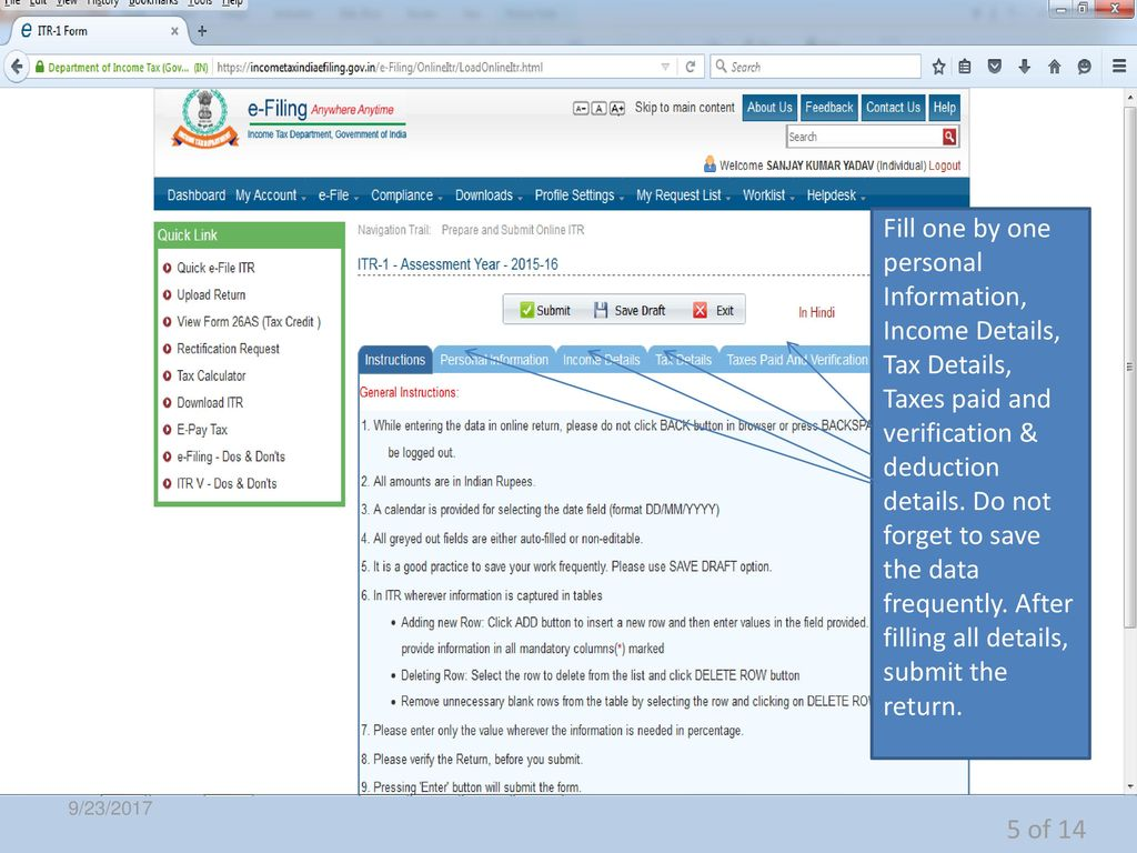 HOW TO FILE ONLINE INCOME TAX RETURN - ppt download