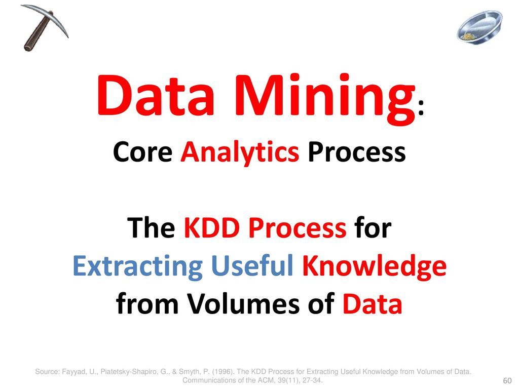 Data Mining: Core Analytics Process The KDD Process for Extracting Useful Knowledge from Volumes of Data