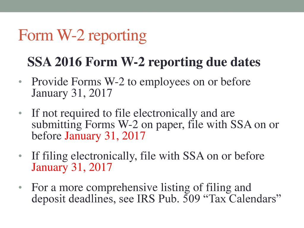Payroll Department 2016 Year-End Complexities November 5, ppt download