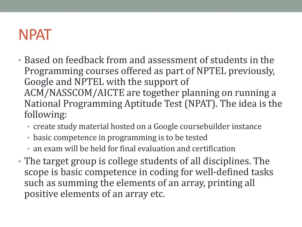 NPTEL Online COURSES AND certification - ppt download