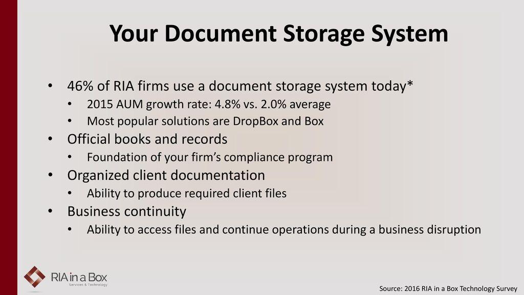 Your Doent Storage System