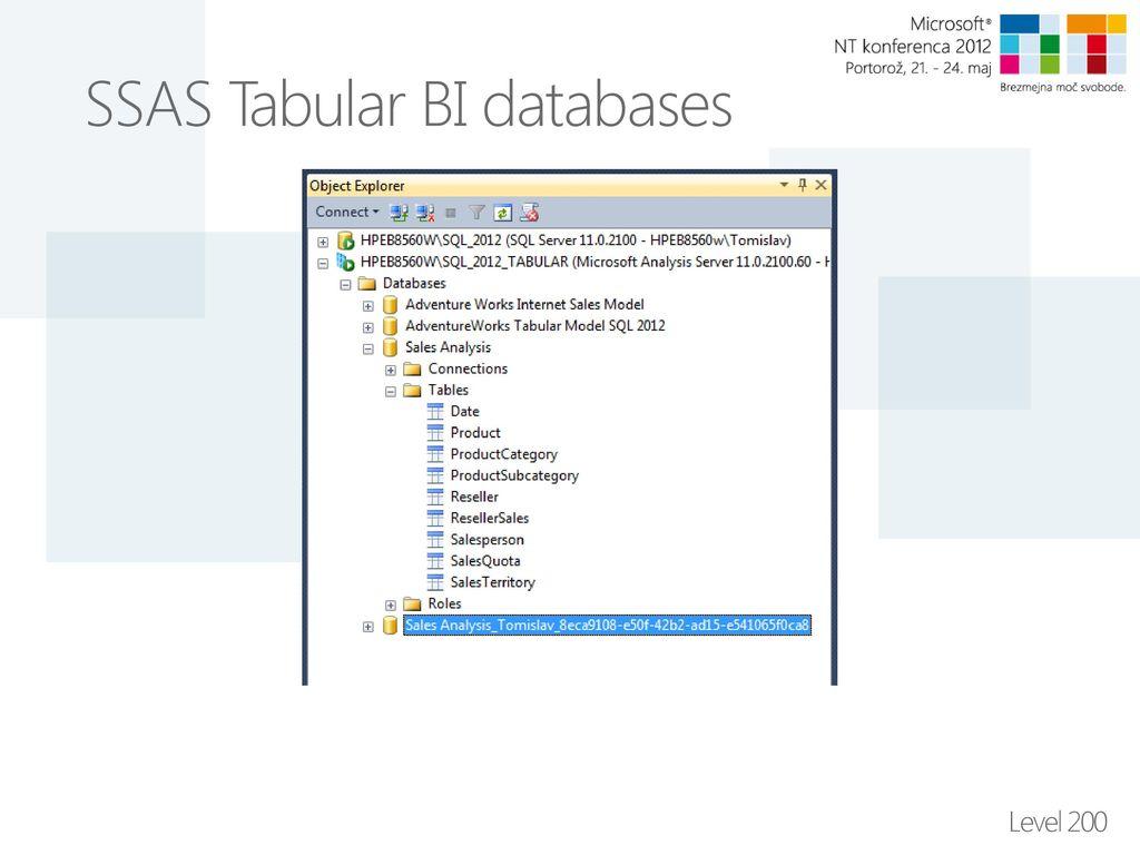 Tabular BI in SQL Server ppt download