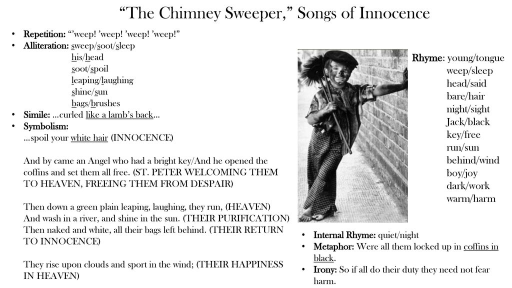 sensory and figurative language found in chimney sweeper Add logo here figurative language saying something you don't mean, like the trees danced in the breeze sensory language words hearing: i heard a wolf howling how might literature be different without the use of sensory and figurative language it might be different because you wouldn't be.