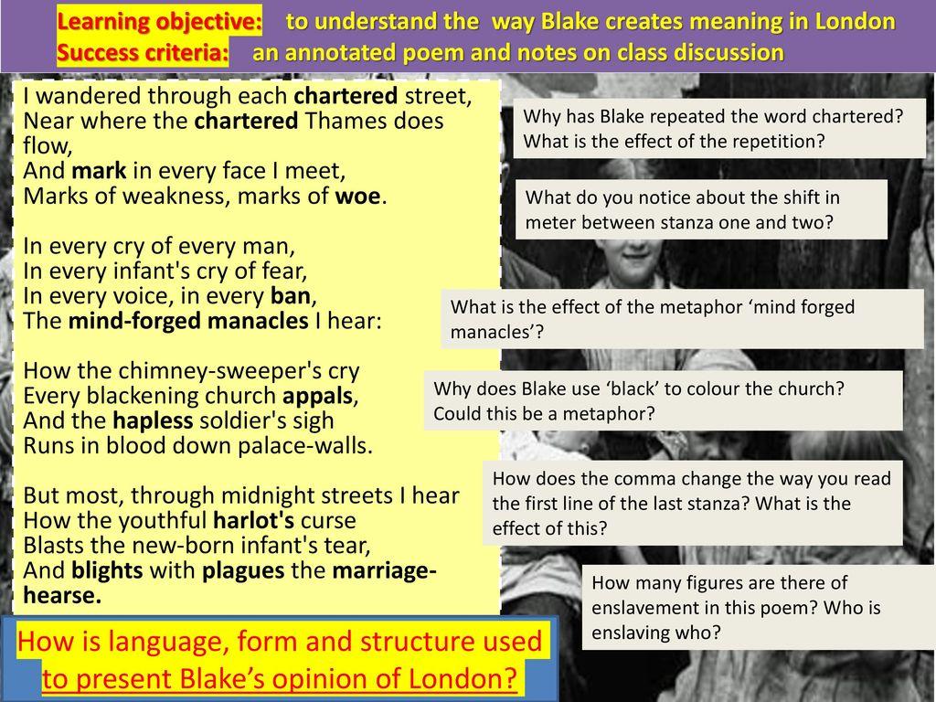 mind forged manacles william blake