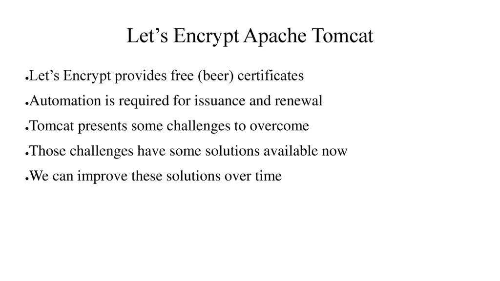 Lets Encrypt Apache Tomcat Ppt Download