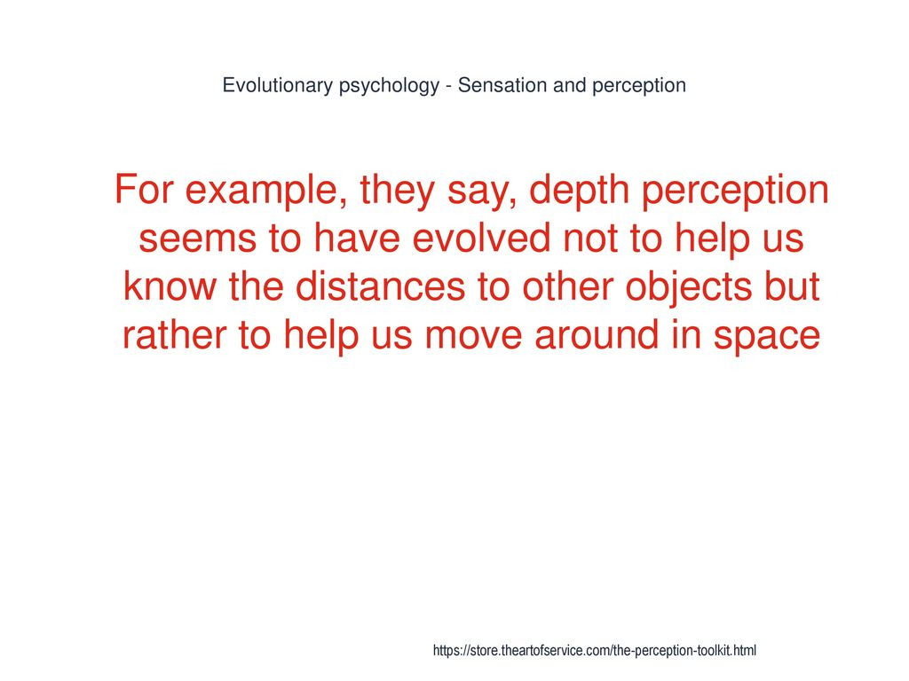 Evolutionary psychology sensation and perception