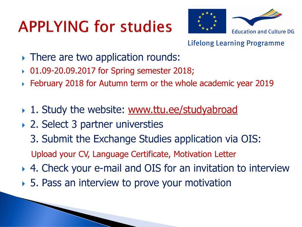 EXCHANGE STUDIES ABROAD Erasmus+ studies and internship abroad - ppt