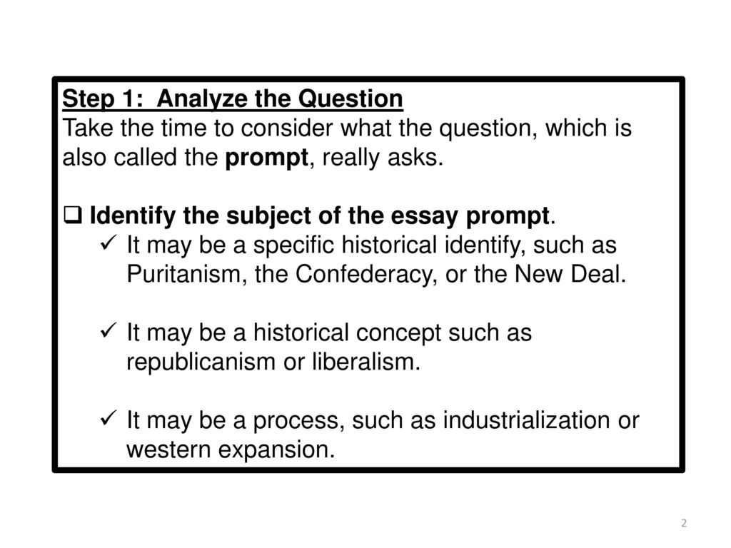 The Long Essay Question Leq Ppt Download