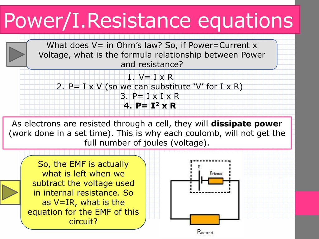 A Level Physics Electrical Quantities Internal Resistance Ppt Resistor Formula Above We Can Calculate The Total Circuit This Would Have Very Low Value
