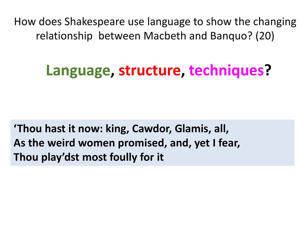 shakespeare language techniques