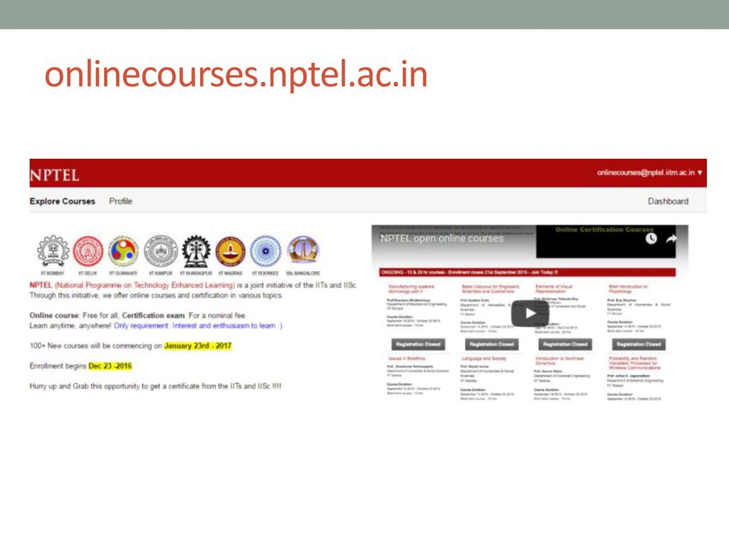 Nptel Online Courses And Certification Ppt Download