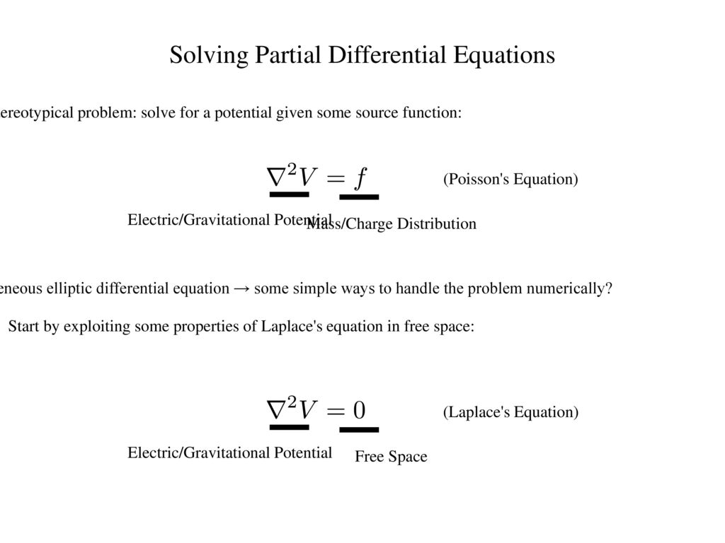 Relaxation Methods in the Solution of Partial Differential Equations