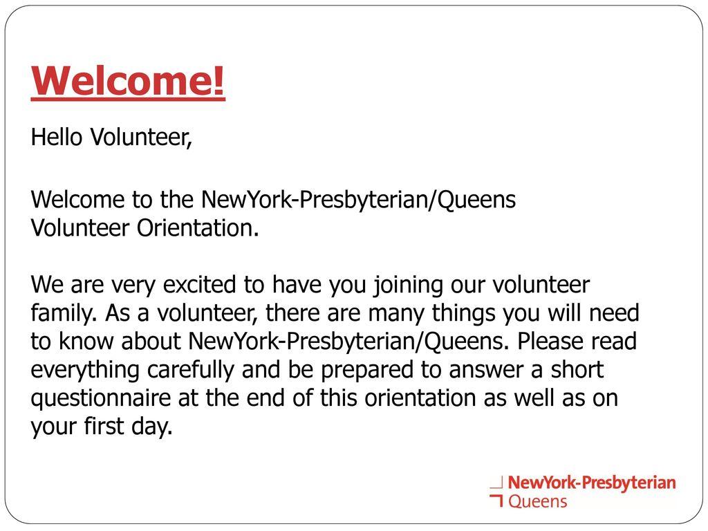 Volunteer Orientation - ppt download