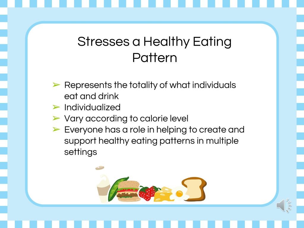 Stresses a Healthy Eating Pattern