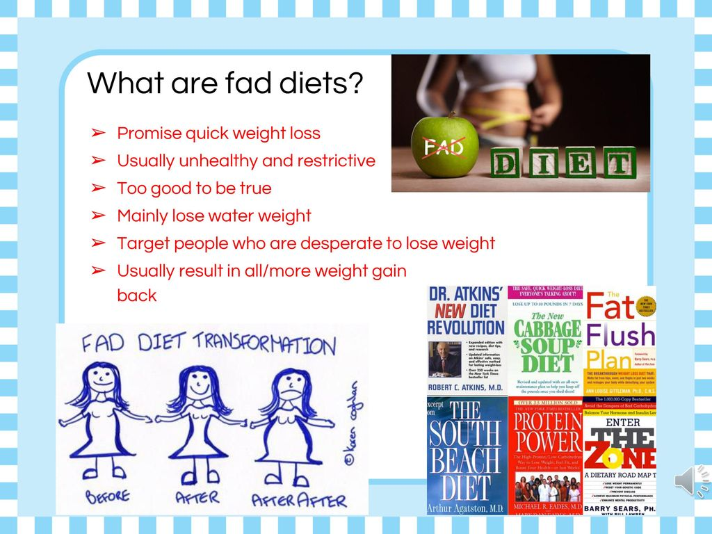 What are fad diets Promise quick weight loss