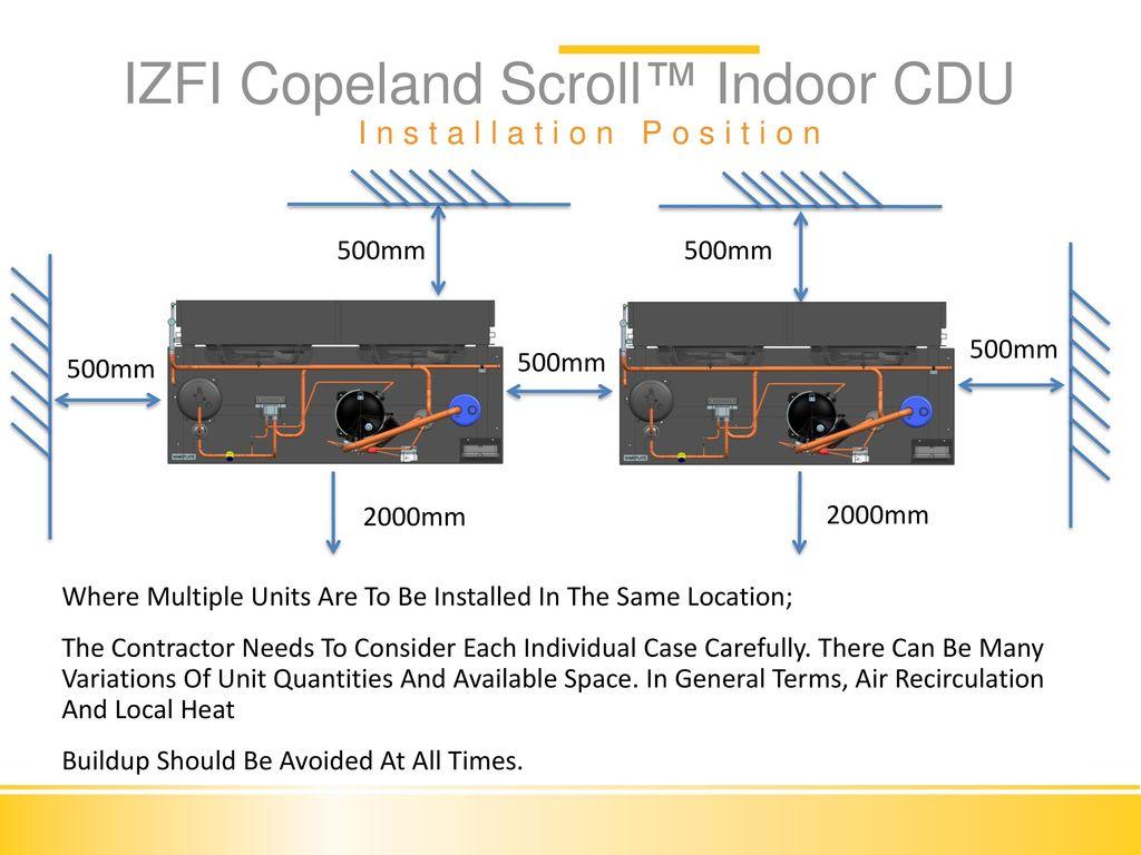 Izfi Condensing Unit Installation Commissioning Ppt Video Copeland Scroll Wiring Diagram Refrigeration Indoor Cdu