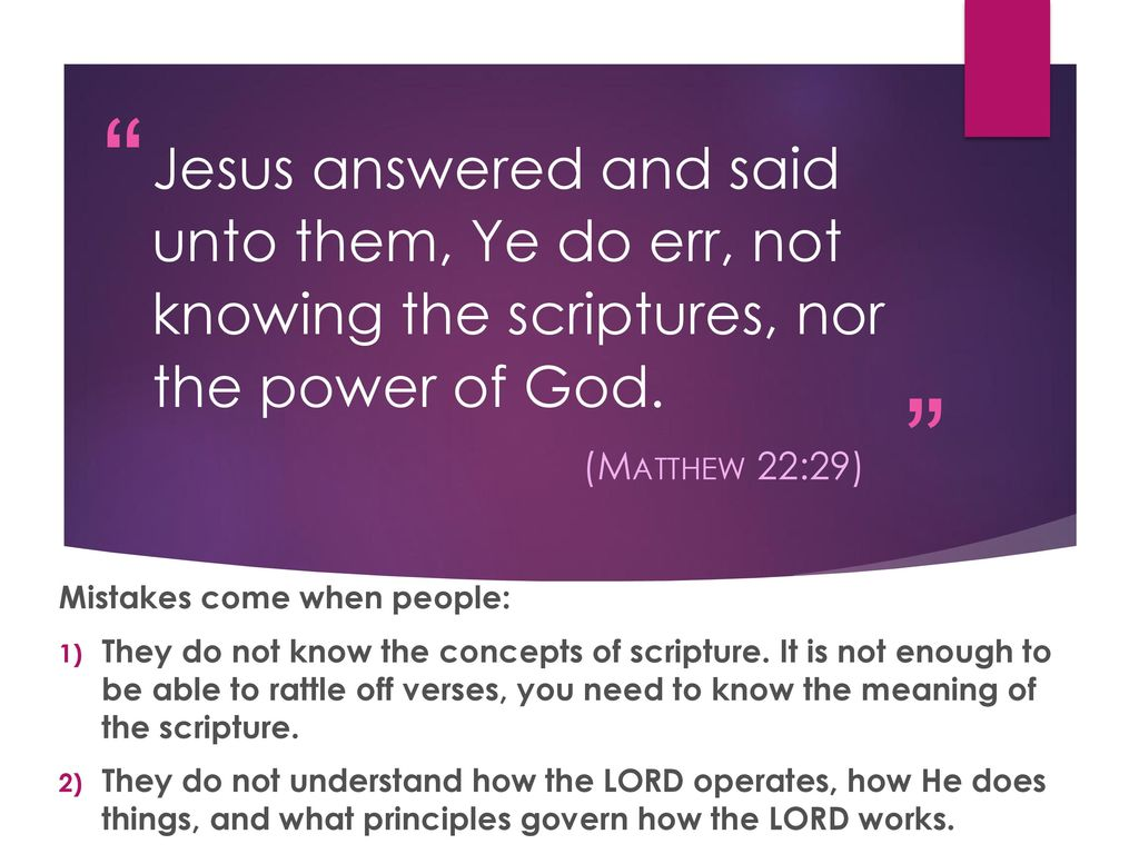 Get e-book We Err Not Knowing Or Studying The Scriptures Matthew 22:29