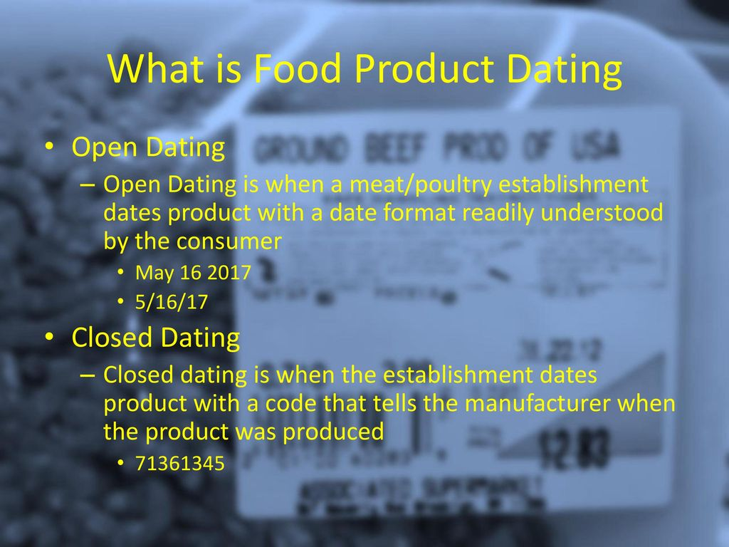 what is open dating food