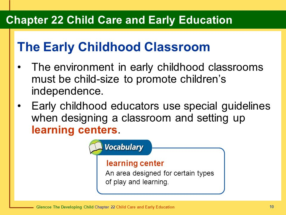 The Early Childhood Classroom