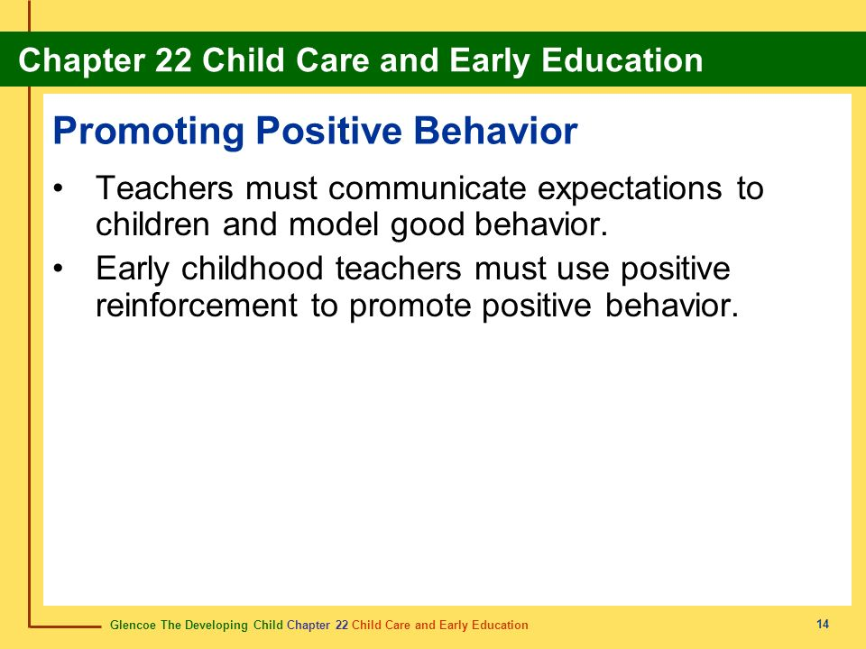 Promoting Positive Behavior