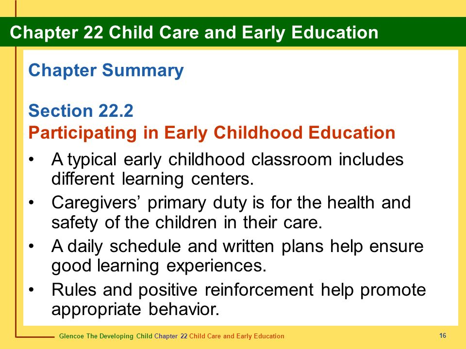 Participating in Early Childhood Education