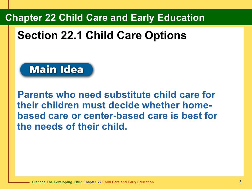 Section 22.1 Child Care Options