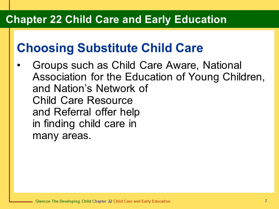 Choosing Substitute Child Care