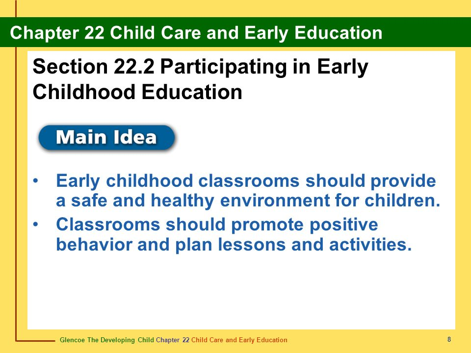 Section 22.2 Participating in Early Childhood Education