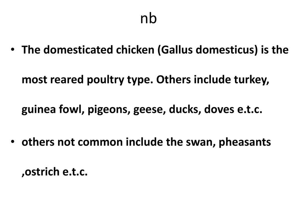 Poultry Production Course - ppt download
