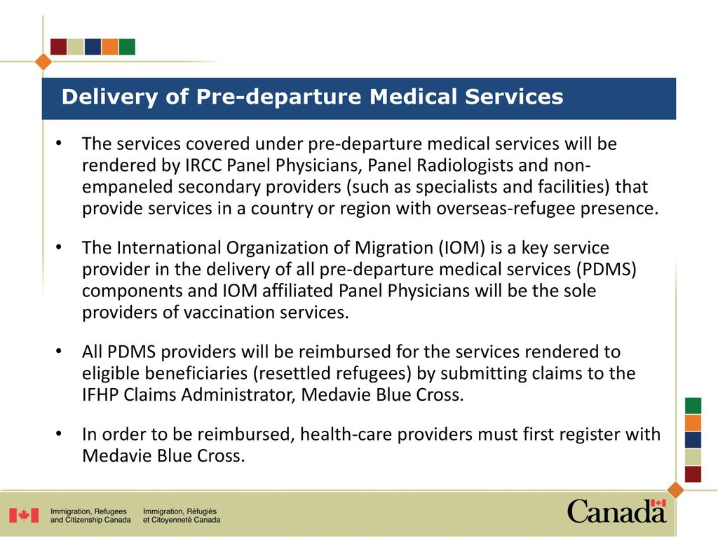 Pre-departure Medical Services under the IFHP - ppt download