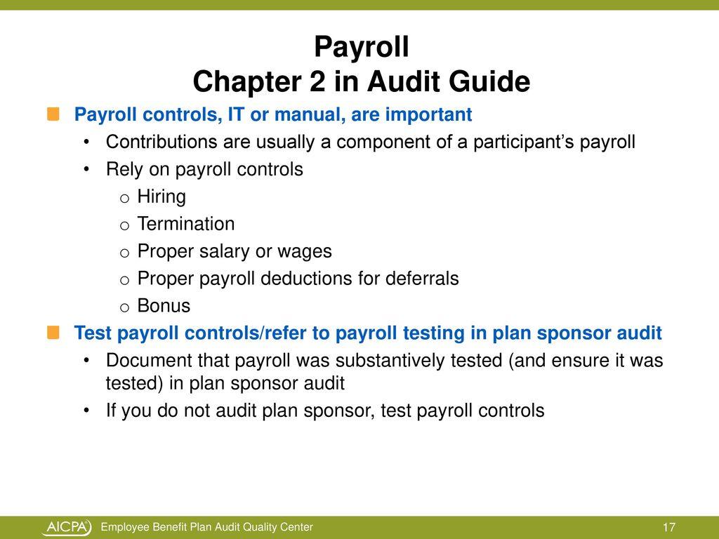 payroll test plan