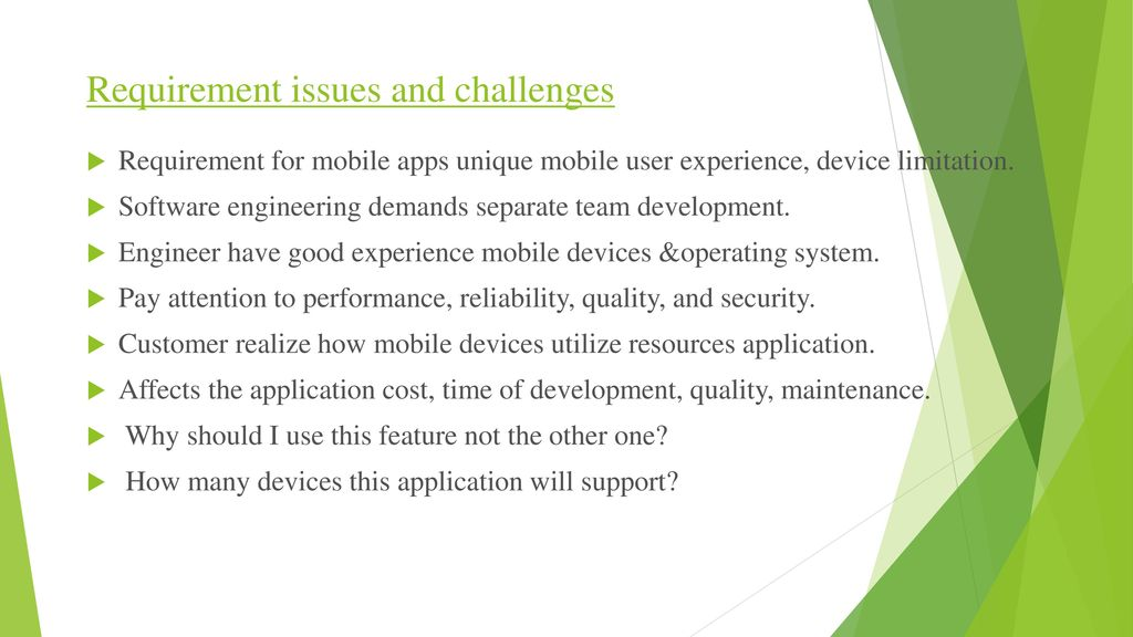 Software Engineering in Mobile Application Development - ppt video