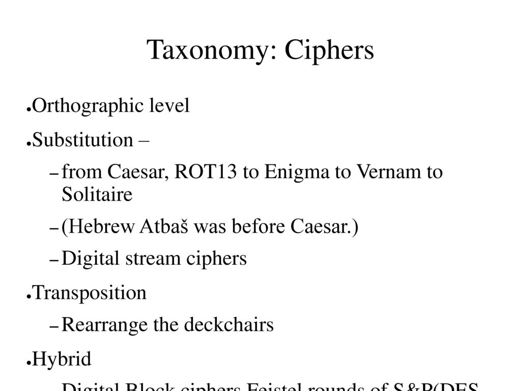 Transposition Ciphers in Historical Context - ppt download