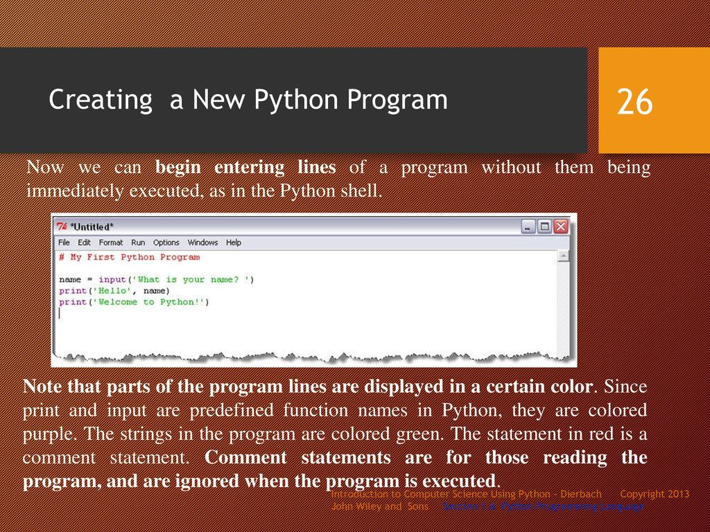 Creating A New Python Program
