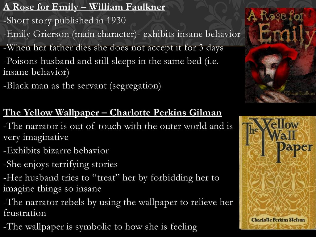 the influence of emilys father on her behavior A mental illness for emily mental illness emily becomes trapped inside her own insanity- immobilized by her decaying sense of self emilys illness.