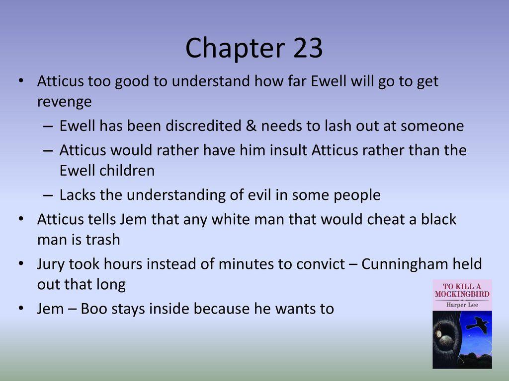 how to kill a mockingbird chapter 23 summary