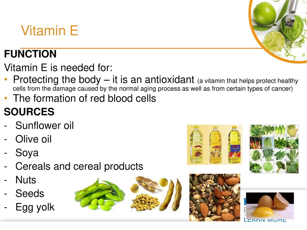 Foods containing vitamin E in large quantities