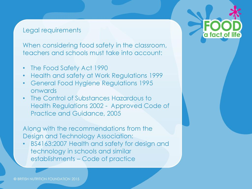 Food Safety in the primary classroom - ppt video online download