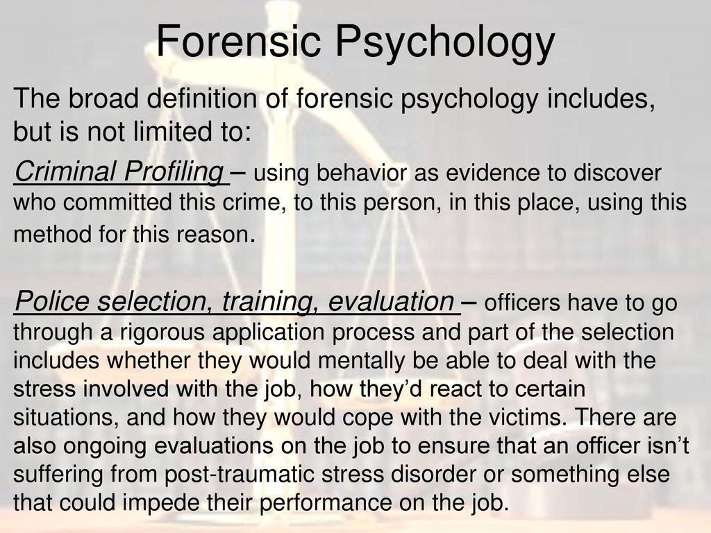 forensic psychology the basics. - ppt download