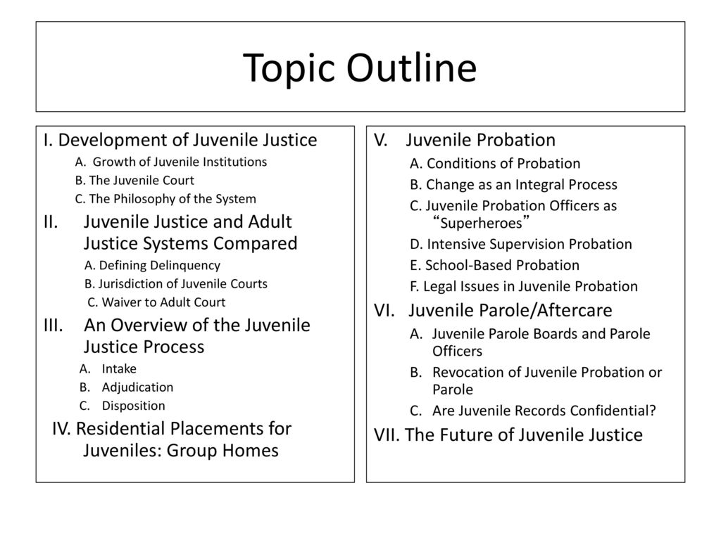juvenile system vs adult justice system criminology essay Even when young offenders are arrested, though, the juvenile justice system tends to afford them with more leniency than their adult counterparts, due in part to the view that the role of the juvenile justice system is to rehabilitate rather than punish.