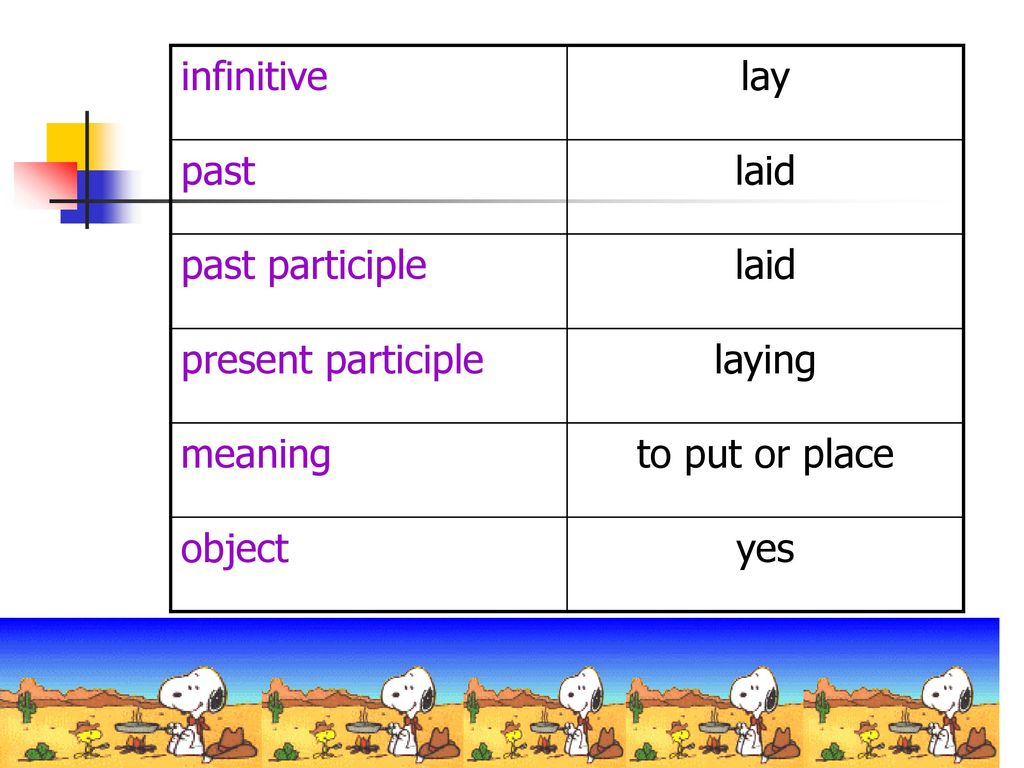 English in Use Lay and Lie  - ppt download