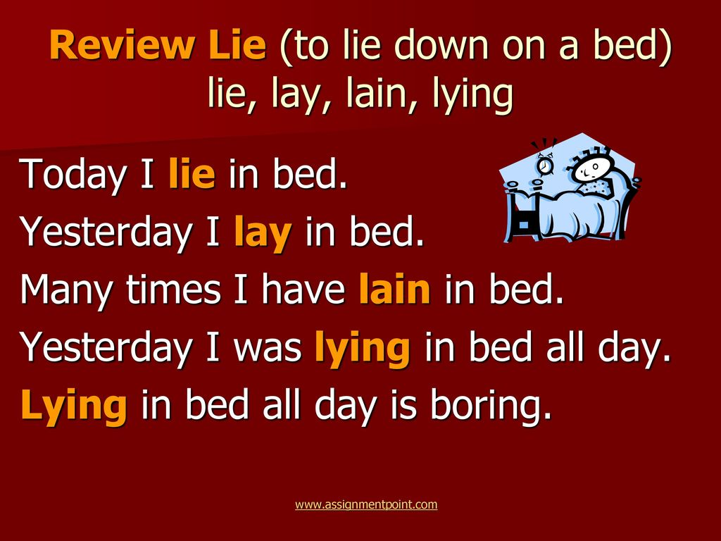Troublesome Words Lie And Lay Ppt Download
