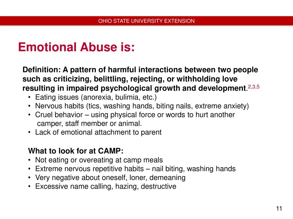 recognizing child abuse and neglect: training for camp counselors