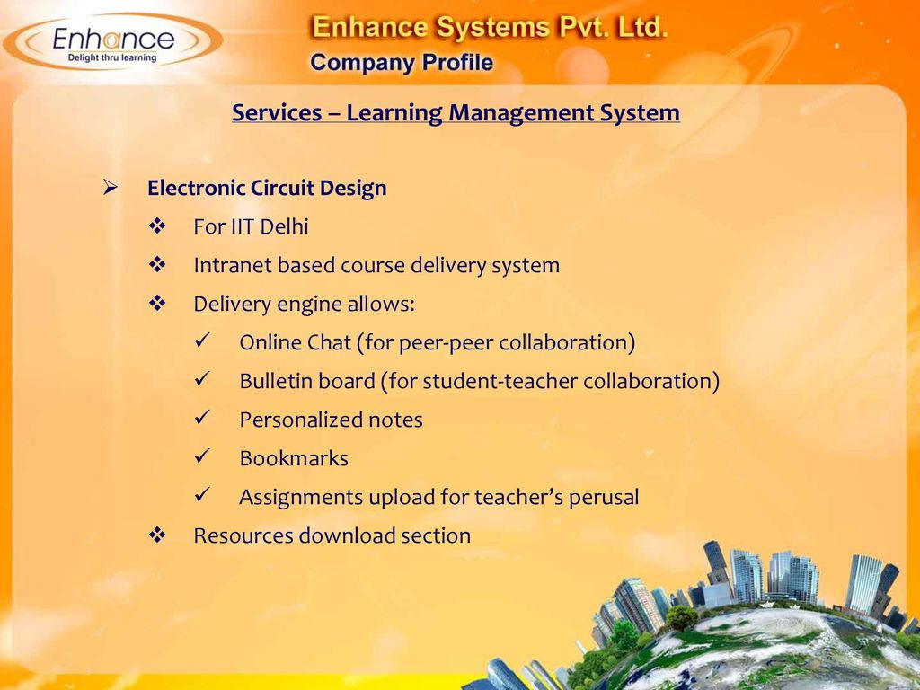 E Learning Components Of Elearning From Enhance Electronic Circuit Design Services 93 Management System