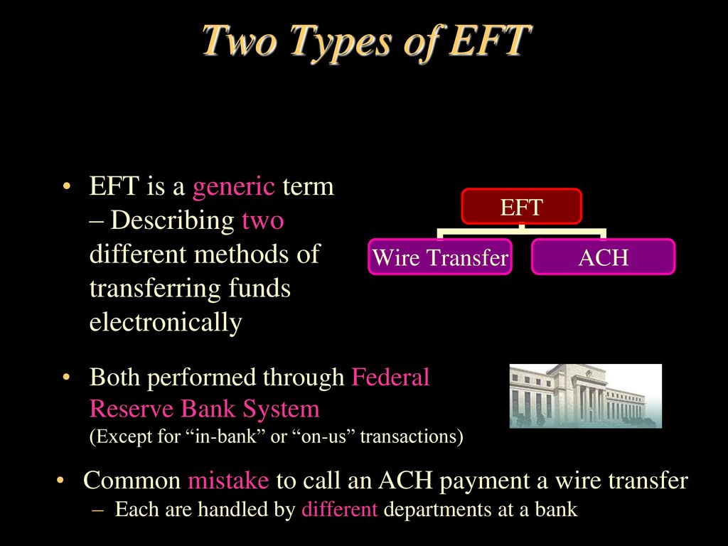 Ach Wire Transfer | Electronic Funds Transfer Ppt Video Online Download